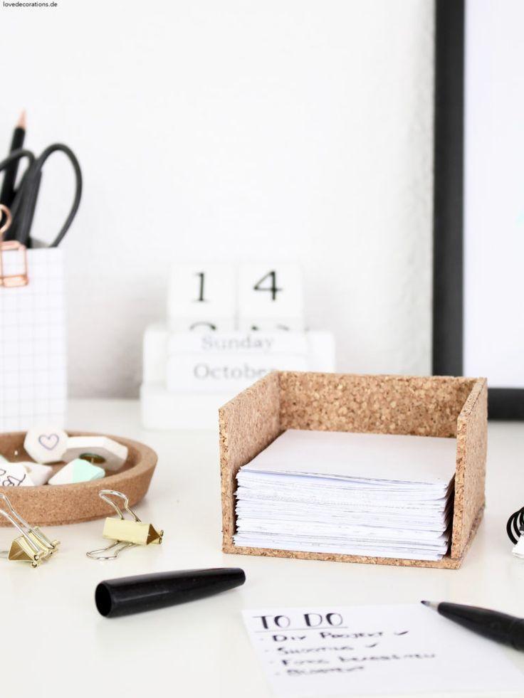 DIY Kork Zettelbox für Notizblätter + Lehrer-haben-doch-so-viel-Freizeit