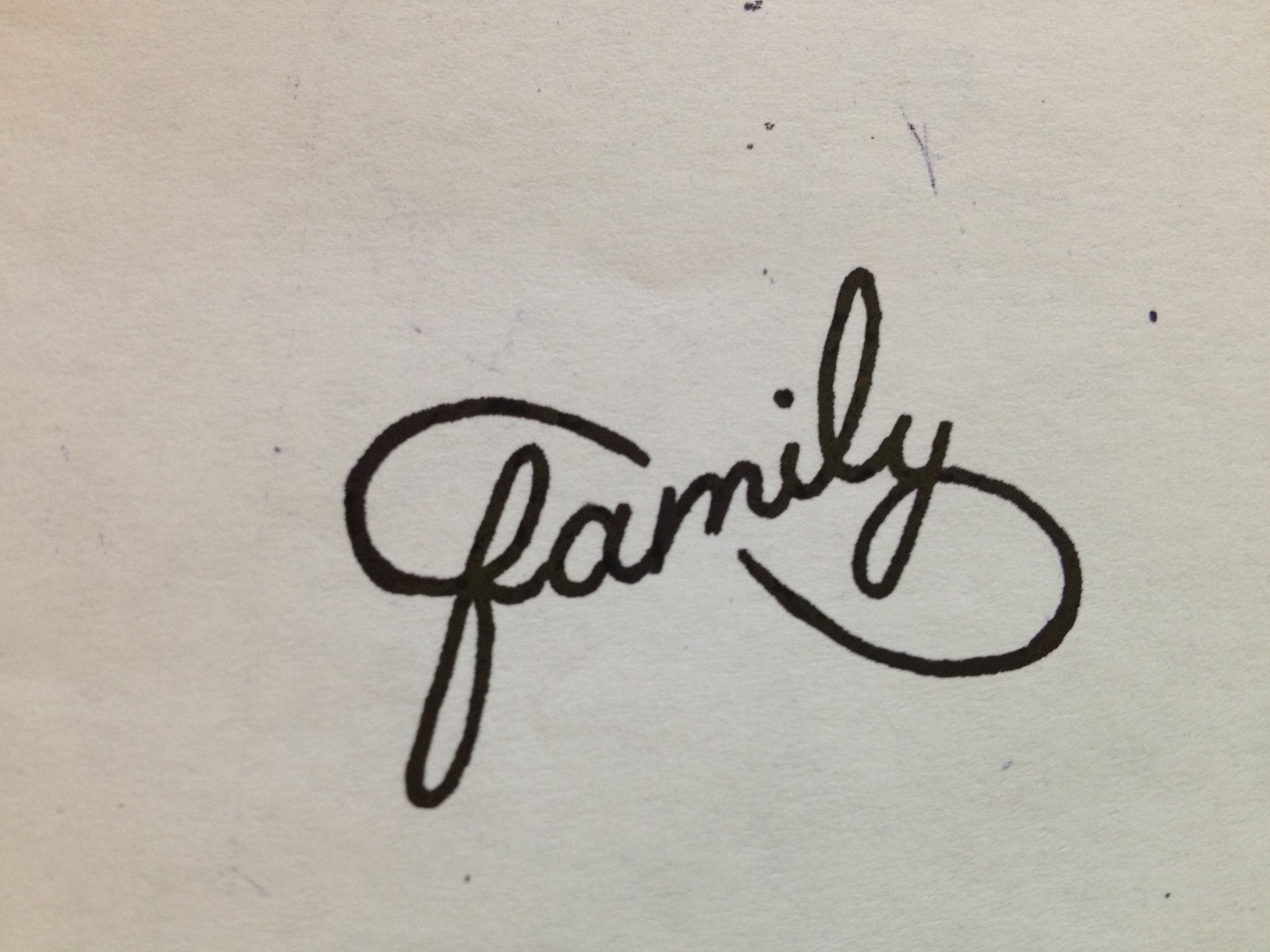 Cool Idea For A Tattoo Family Intwined In An Infinity Symbol