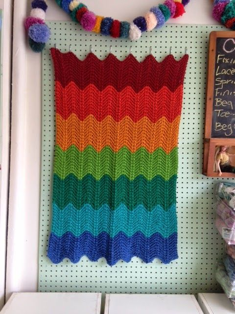 Knit-O-Matic Blog: New Store Project: Bulky Chevron Baby ...