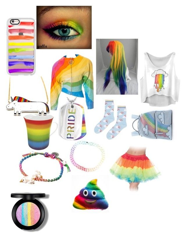 """Damn I'm so gay"" by nothing-but-love-forever ❤ liked on Polyvore featuring Venessa Arizaga, Thierry Mugler, West Coast Jewelry, Hot Topic, Könitz, Topshop, Les Petits Joueurs and Casetify"