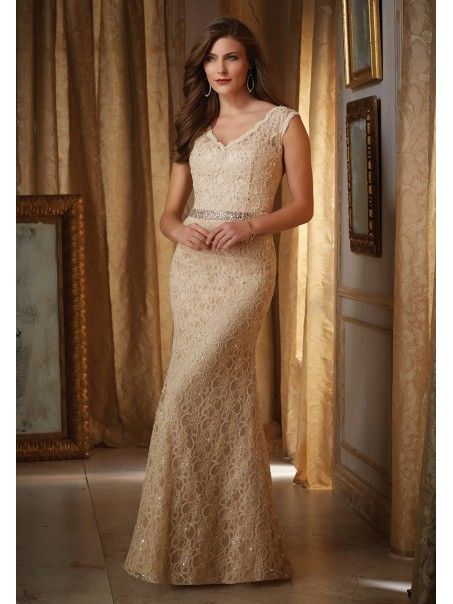 0d48a026b2a Elegang Mermaid V-Neck Beaded Lace Mother of The Bride Dresses 5603057