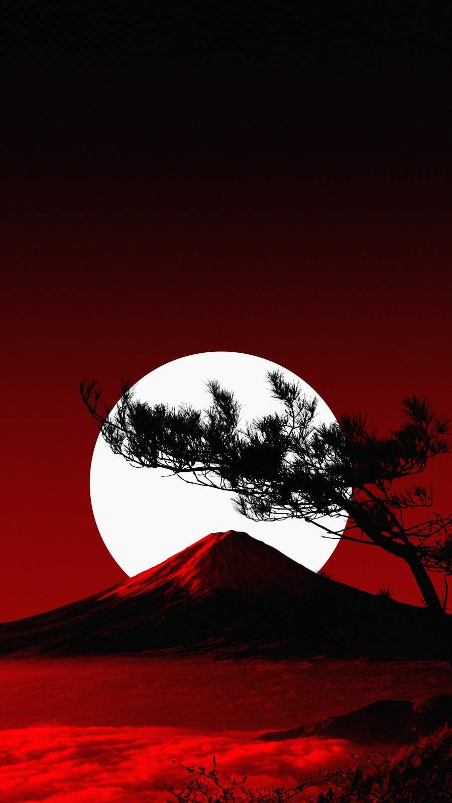 Volcano Moon - iPhone Wallpapers