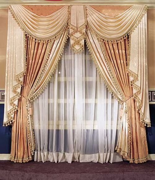 curtain modern drapes window treatments design room fancy curtains jacquard living and french door for