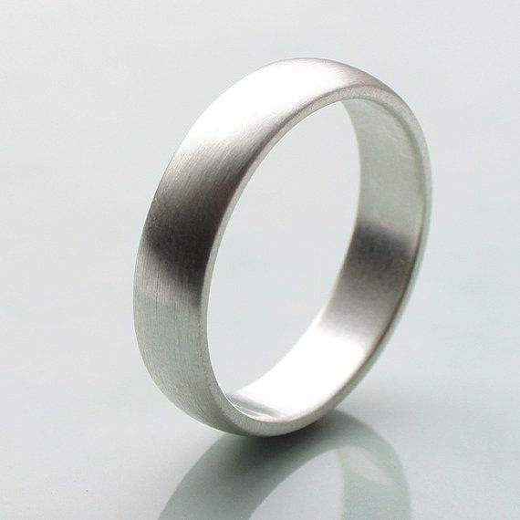 Silver Wedding Band Argentium Ring Men S 5mm X 1 5