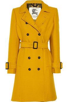mustard coat <3 love burberry