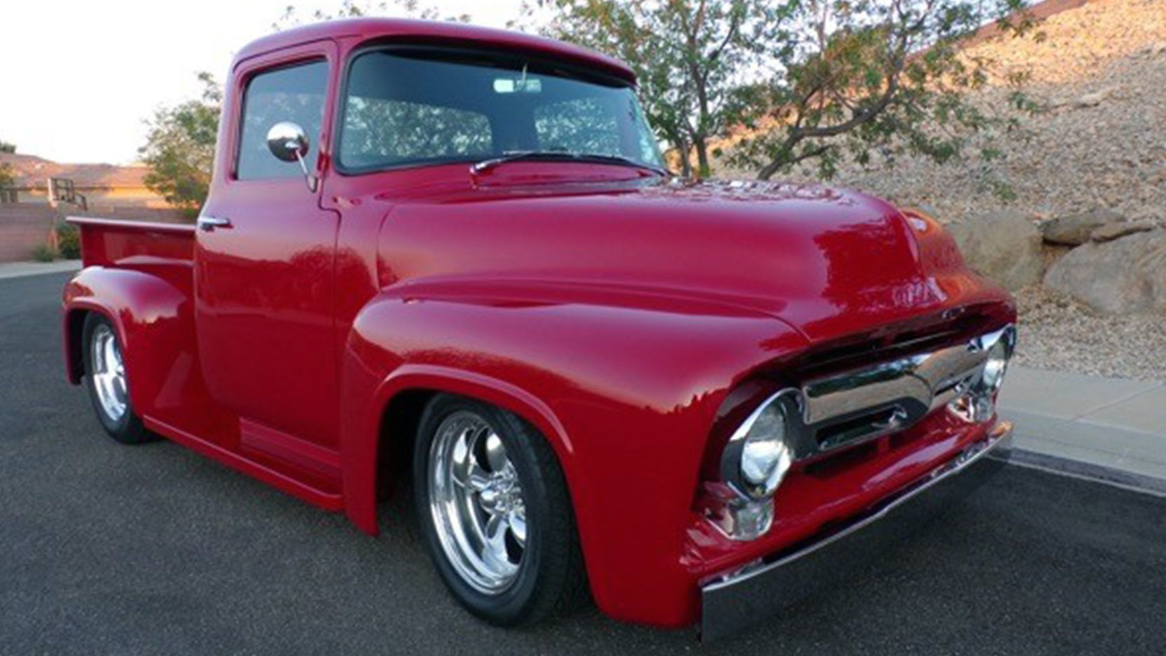 1956 Ford F100 Pickup Presented As Lot F156 At Anaheim Ca