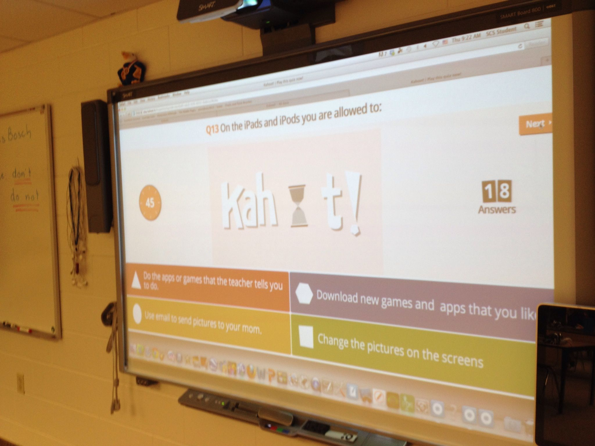 Computer Lab Rules Game Using The Free Getkahoot Site