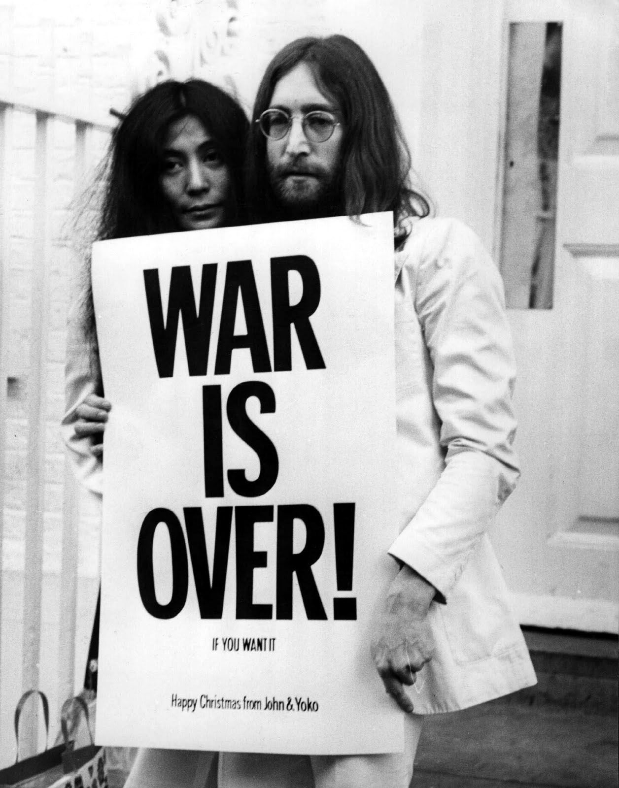 War Is Over John Lennon And Yoko Ono
