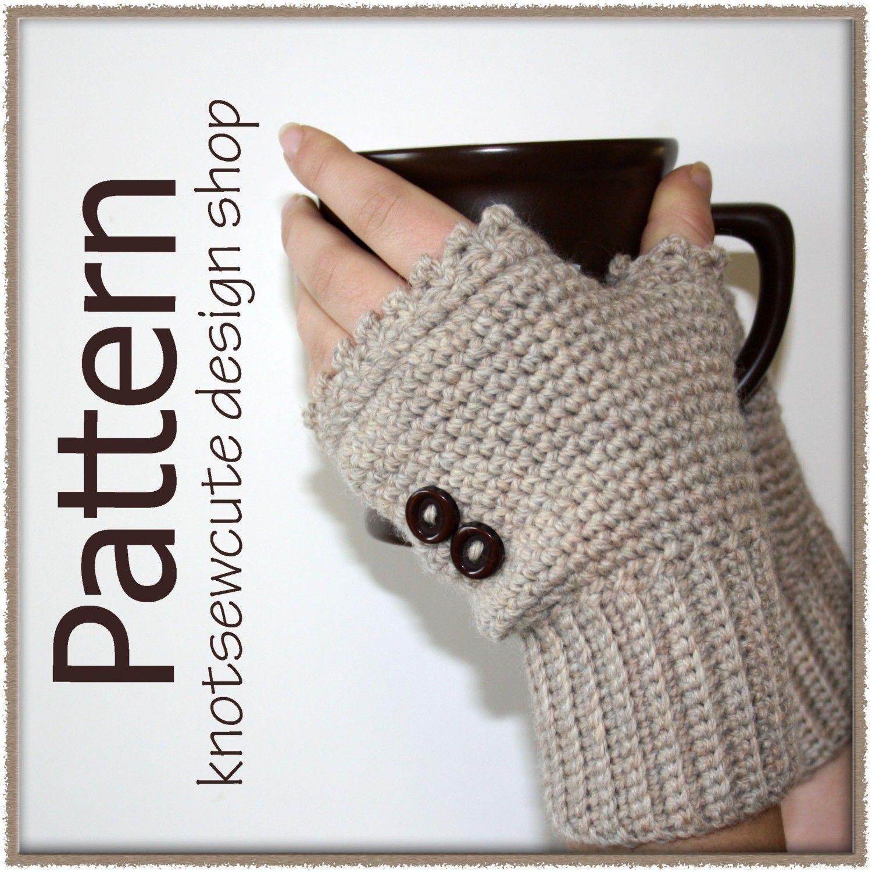 Ladies+Fingerless+Mitts++Crochet+Pattern+by+knotsewcute+on+Etsy,+$ ...