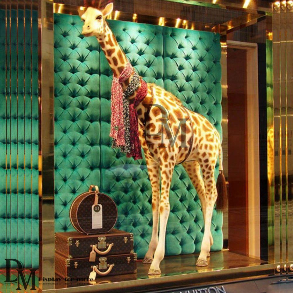 Vm 1 1 Proportion Elk Fiberglass Statue For Window Display Combining Aesthetics And Practicality You Can Hang The Scarfs Window Display Display Fiberglass