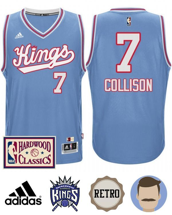 4a208f3edd55 Dress yourself in this special Kings Darren Collison 2016-17 Blue Throwback  Jersey in the coming season. It s the perfect time to refine your NBA  wardrobe ...