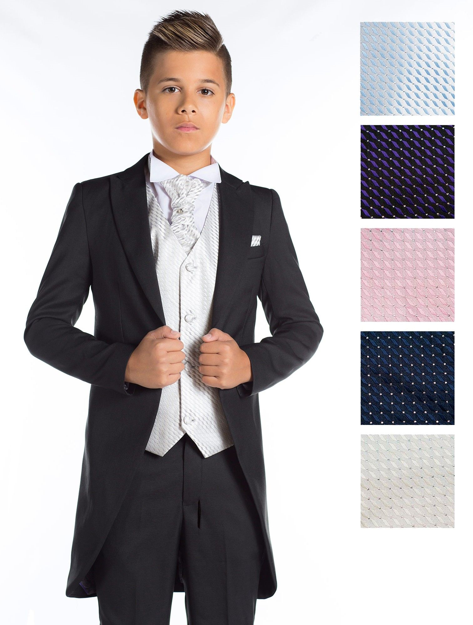 46.99 boys black tail suit   Boys morning suits   Page boy outfits ...