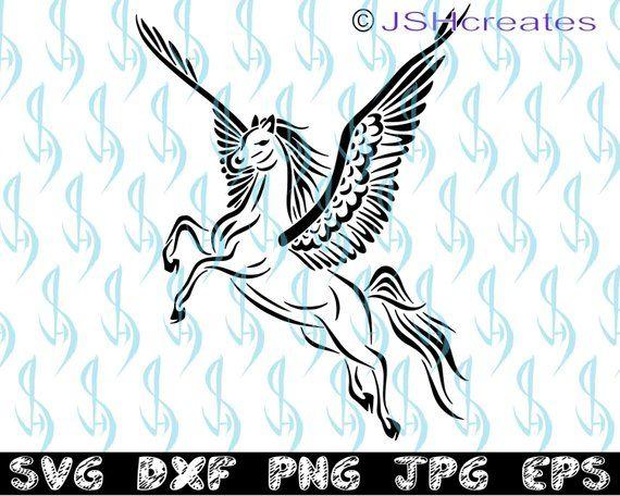 Pegasus svg, Horse svg, Wings svg, SVG, clipart, decal, eps