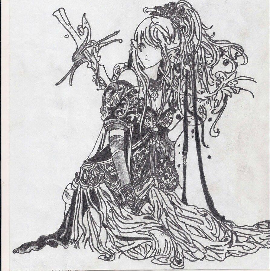 Elvish sword maiden