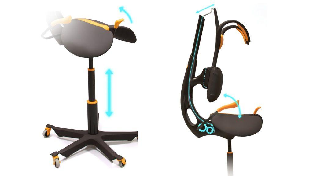 Ergonomic sitting device for tattoo artists