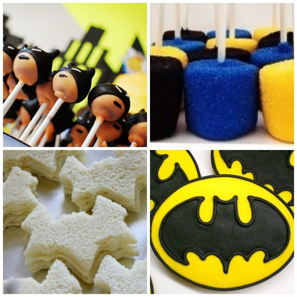 Batman birthday party games decoration sweets sandwiches online ...