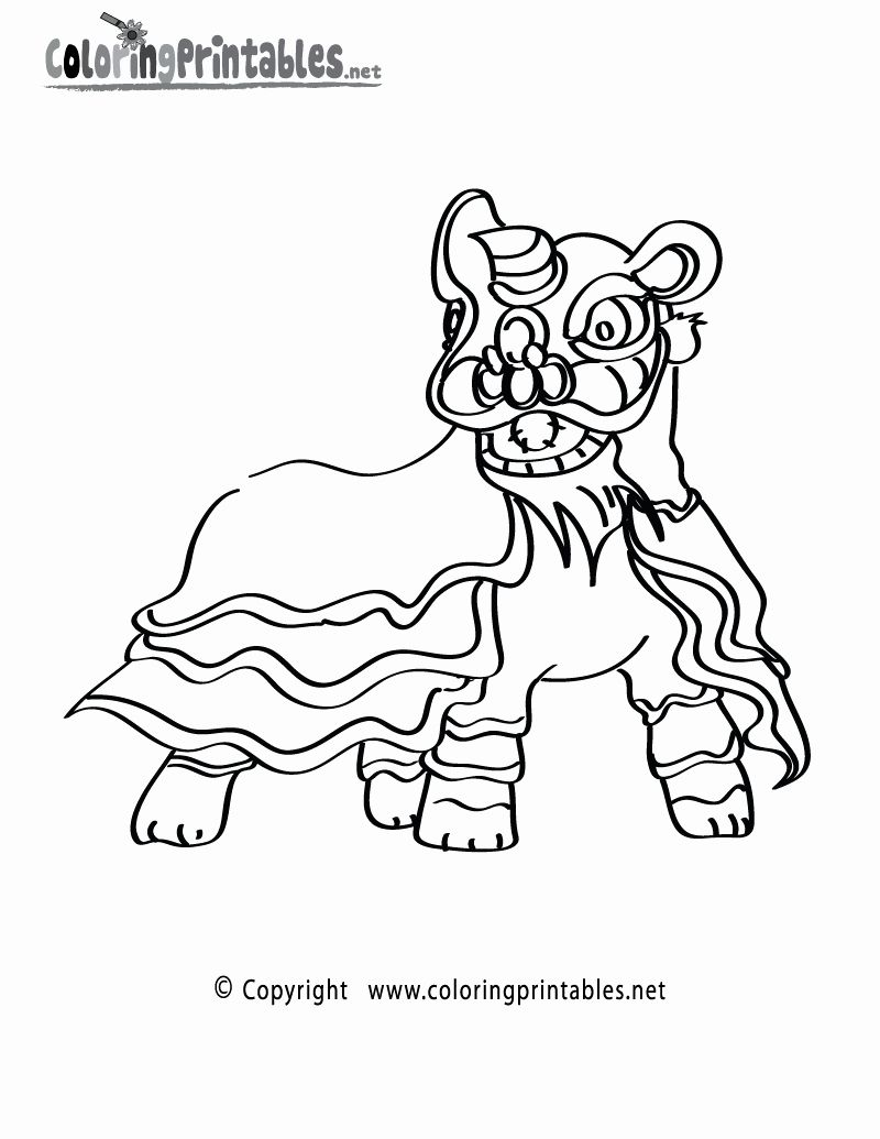 Coloring Picture Of A Lion New Lion Dance Coloring Pages