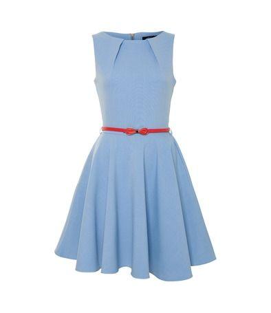 CLOSET Flared belted dress