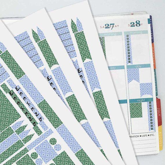 December Vintage Wallpaper Coordinating Planner Sticker Kit // Erin Condren Colors