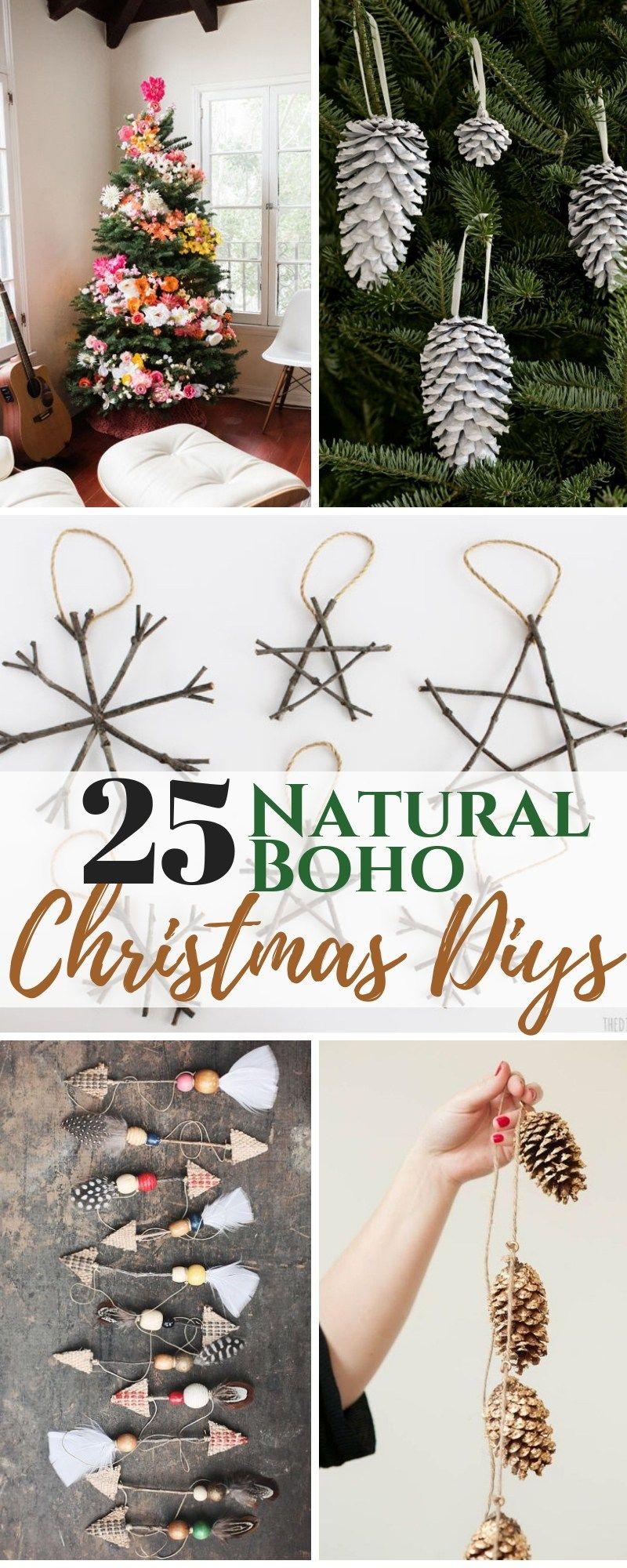 25 DIY Boho Chic Christmas Decor Ideas images