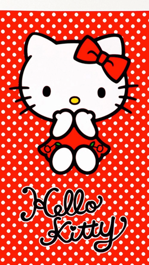 Hello Kitty Wallpaper Merah