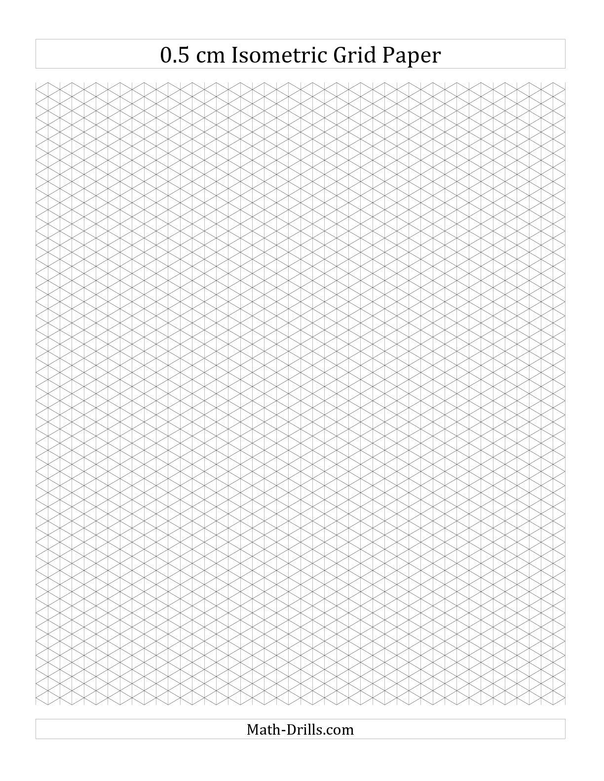 Printable Isometric Graph Paper Grid