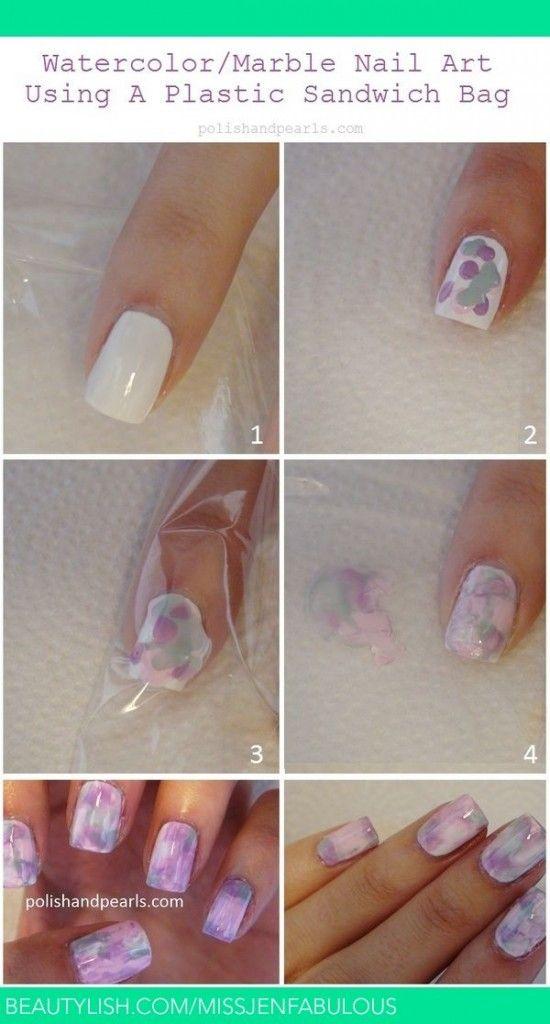 Easy Nail Art Designs For Short Nails Step By Step Google Search Water Color Nails Nails Nail Art