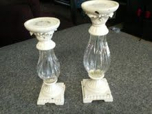 Got this pair of shabby chic candle holders for only $5.00