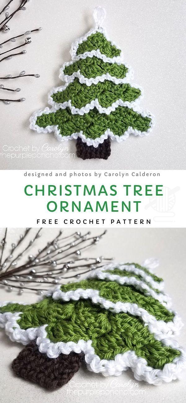 Ornement de Père Noël au crochet en forme de coeur avec motif gratuit   – Weihnachten – DIY- häkeln – basteln