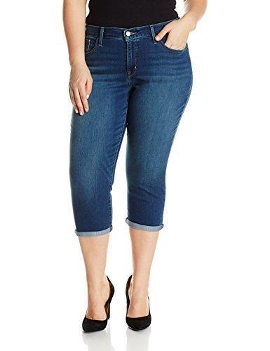8b125a05 Levi's Women's Plus Size Shaping Capri Jeans   Brooklyn Shop   Capri ...