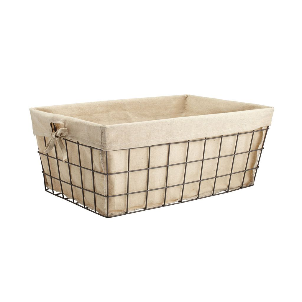 Metal Wire Storage Basket With Liner By Ashland®