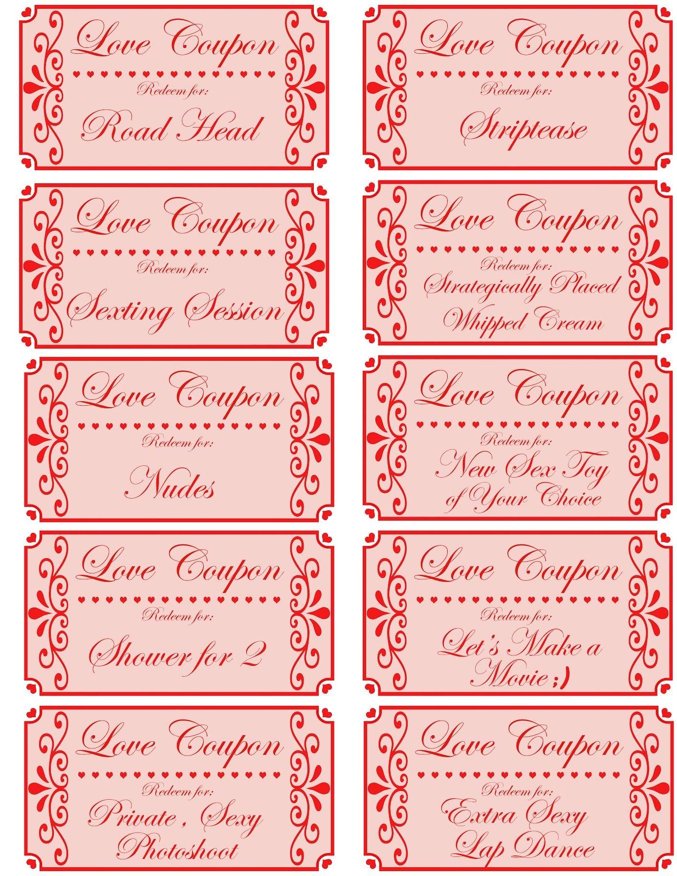 Love coupon book printable love coupons romantic coupon
