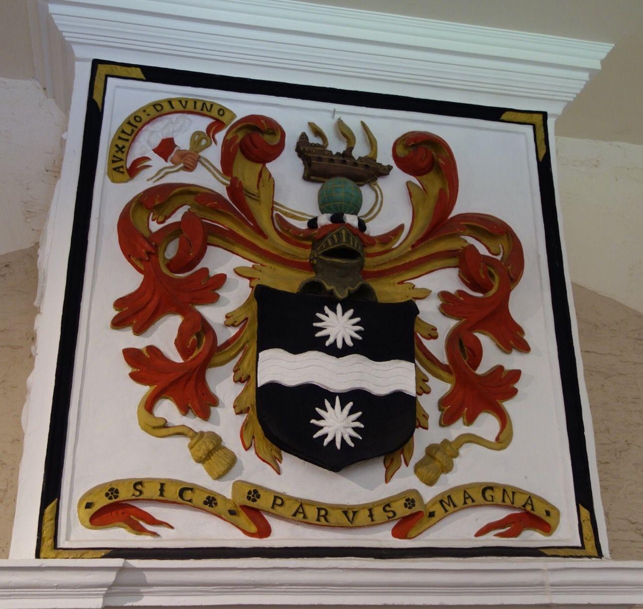 Coat Of Arms Buckland Abbey Sir Francis Drake Coat Of Arms Sea Dragon Buckland