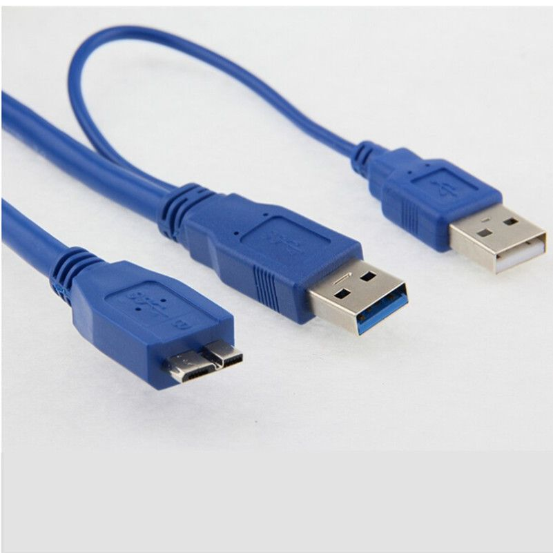 5Gbps Micro B USB 3.0 External hard Drive Cable with USB Power ...