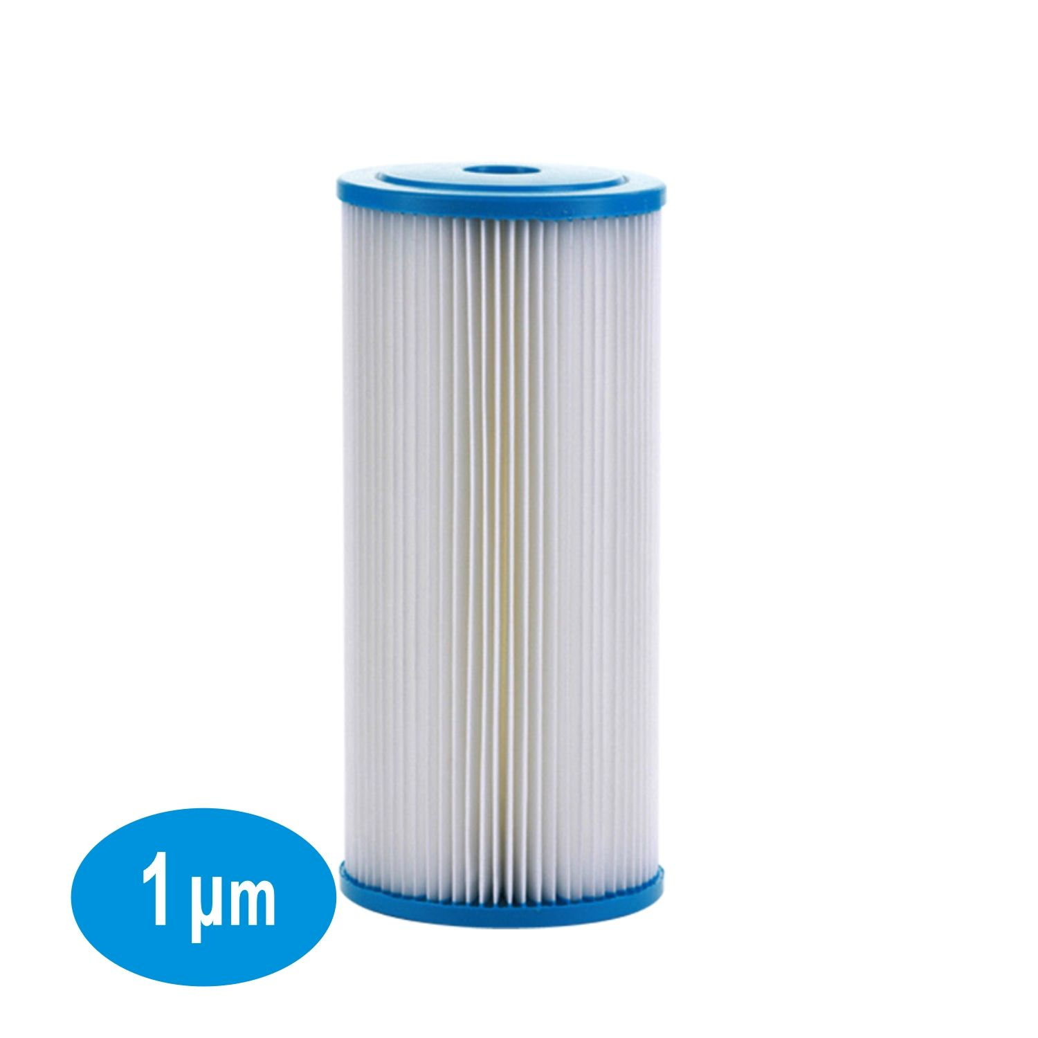 1 Micron Big Blue Sediment Pleated Water Filter 4 5 Dia X 10 Long Whole House Washable And Reusable In 2020 Water Filter Filters Sediment