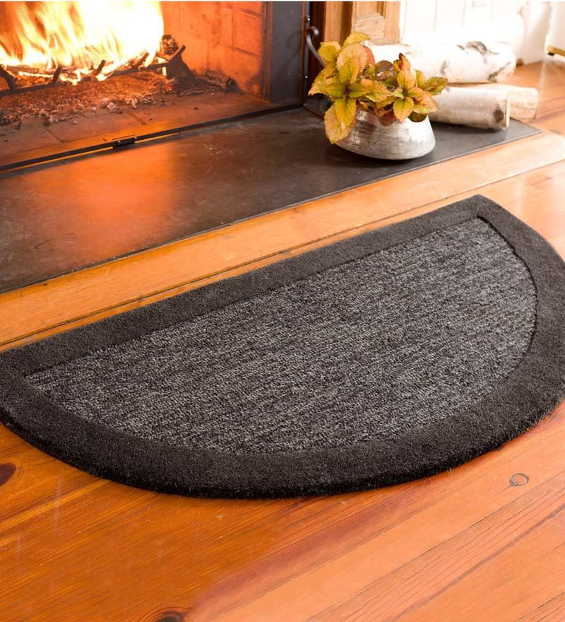 2 X 4 Madrid Banded Half Round Hearth Rug Collection Accessories Hearth Rug Fireplace Hearth Fireplace Rugs