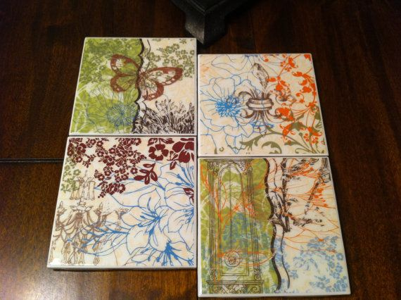 Decorative Tile Coasters Amusing Stock Sale Out  Ceramic Tile Coasters  Butterfly Decorative Decorating Inspiration