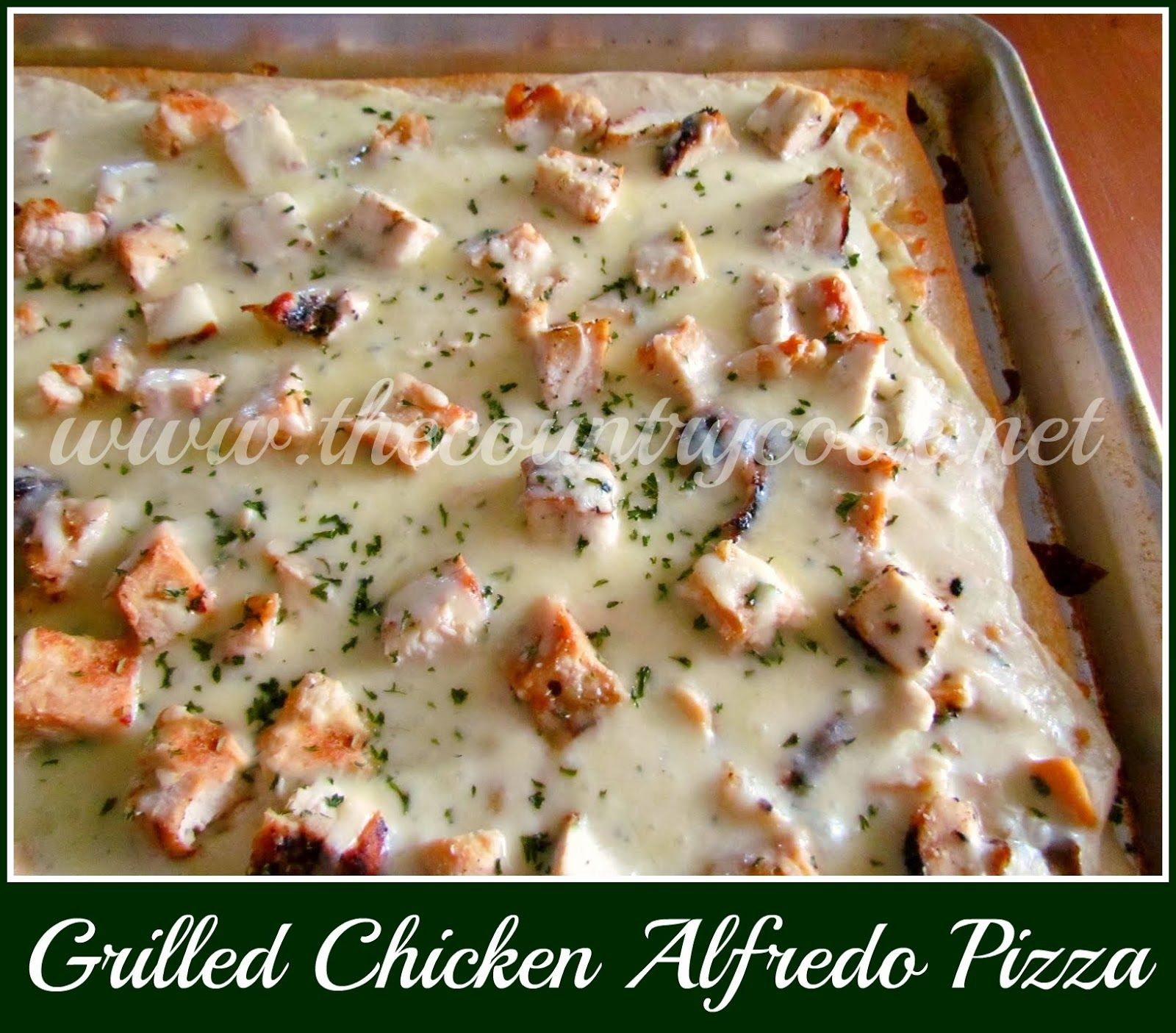 Grilled Chicken Alfredo Pizza Recipe Grilled Chicken Alfredo Chicken Alfredo Pizza And