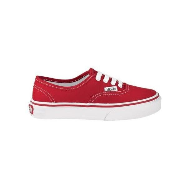 Youth Vans Authentic Skate Shoe, Red, at Journeys Kidz ($32) ❤ liked on Polyvore featuring shoes