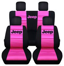 Front 60 40 Rear Black And Hot Pink Jeep Grand Cherokee Seat