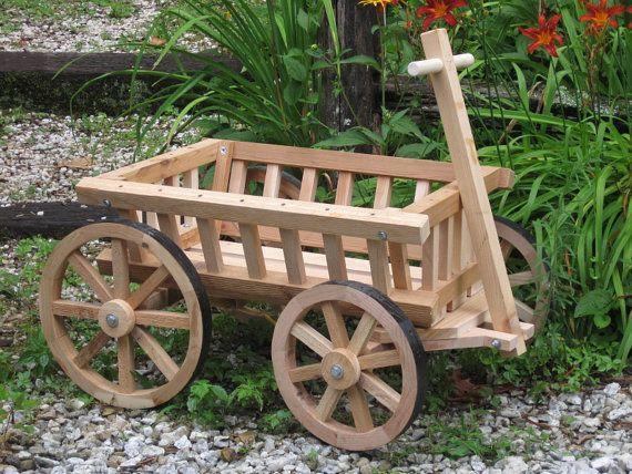 Medium Flower Girl Wedding Wagon Unfinished Etsy In 2020 Wagon For Wedding Wheelbarrow Decor Wood Planters