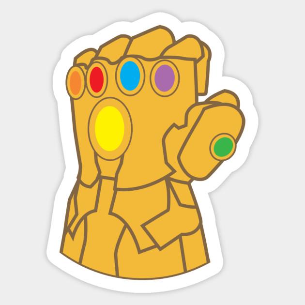 Thanos Infinity Gauntlet Purple Thanos Sticker Teepublic Pegatinas Bonitas Pegatinas Wallpaper Pegatinas Imprimibles