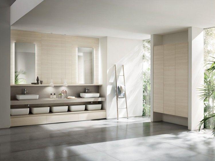 Entdecken sie die moderne einrichtung für küche und bad aus der neuer kollektion von scavolini bei der das design aus zwei hauptelementen besteht