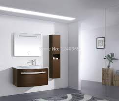 Houten zwevend badkamer meubel met laden(2) | led | Pinterest