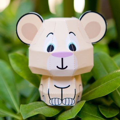 Nala en papier d couvre nos activit s cr atives de l 39 t - Coloriage minnie jouet ...