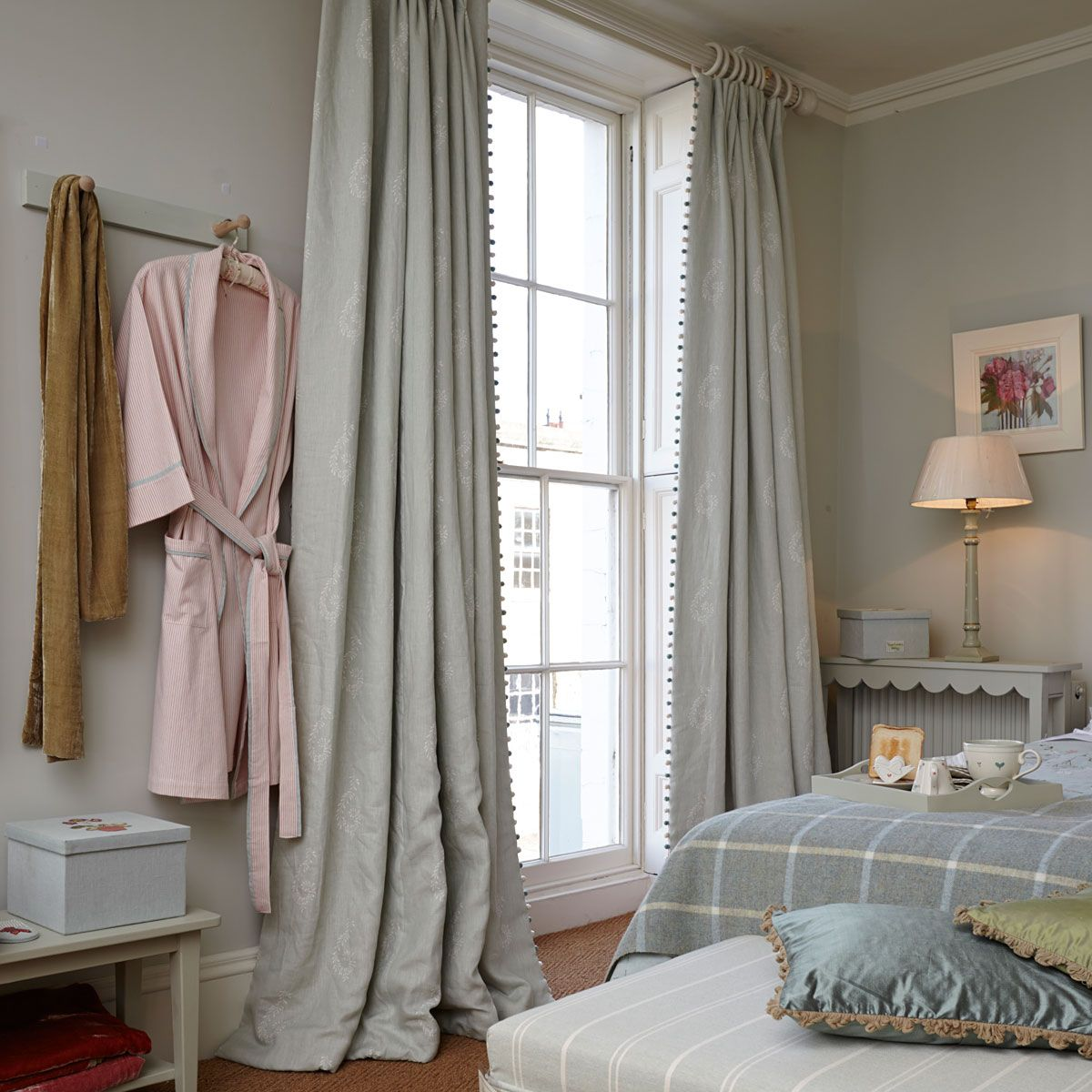 Fabric 327   Linen/Shalini   Duck Egg Blue L Susie Watson Designs With  Bobble · Linen CurtainsBedroom ...