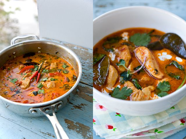 Curries, Red curry chicken and Thai red curry