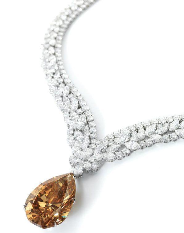 10002 carat pear shaped fancy yellow brownm diamond pendant 10002 carat pear shaped fancy yellow brownm diamond pendant necklace diamond necklace signed cartier aloadofball Images