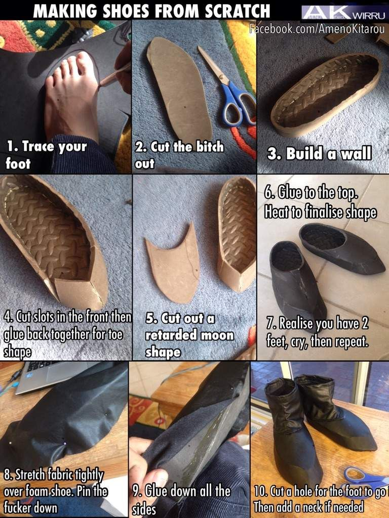 Shoe Making Tutorial How To Make Shoes Cosplay Shoes Cosplay Diy