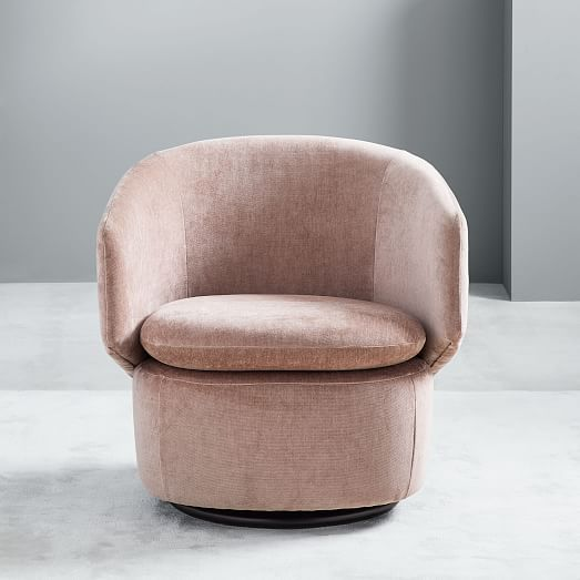 Crescent Swivel Chair Twill Teal In 2019 Swivel Chair